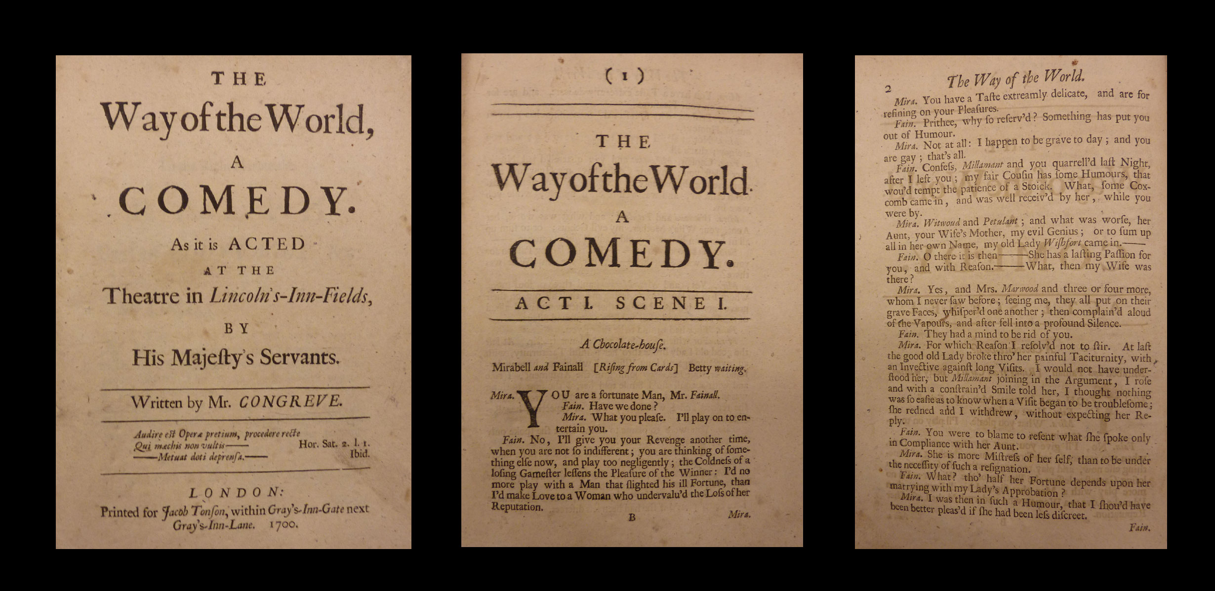 Congreve, The Way of the World