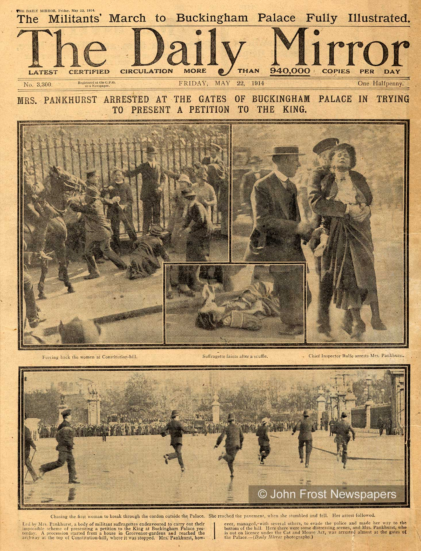 Suffragettes protest
