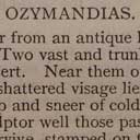 P B Shelley, 'Ozymandias'