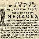 Notices about runaway slaves