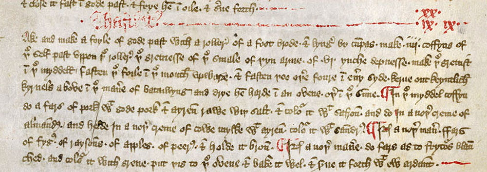 First English cookery manuscript