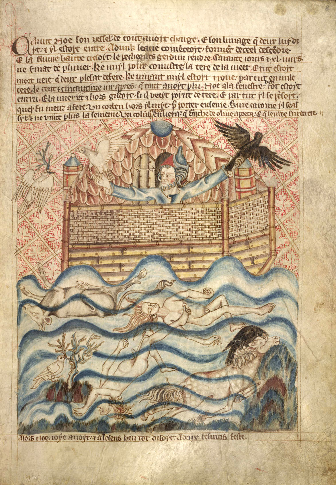 Noah in the Holkham Bible