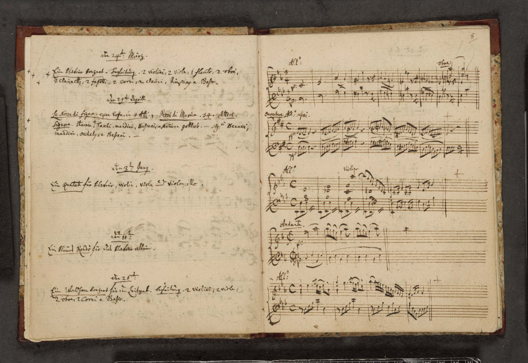 Mozart's notebook