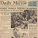 Fred Perry wins Wimbledon