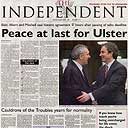 Peace declared: Northern Ireland