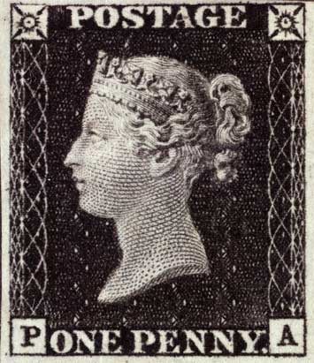 first postage stamp