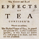 The Good and Bad Effects of Tea