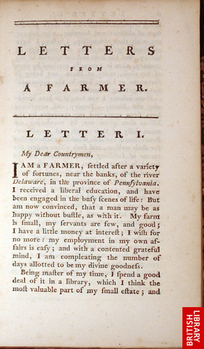 Letters from farmerin Pennsylvania