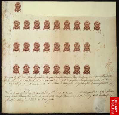 The Tax Stamps of the Revolution