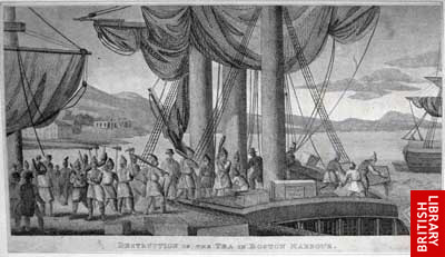 'Destruction of the Tea in Boston Harbour'