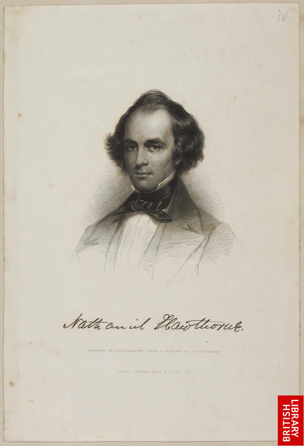 Image of author Nathaniel Hawthorne from the Marble Faun