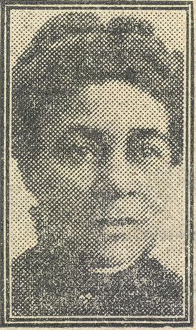Newspaper photo of John Archer's wife Bertha