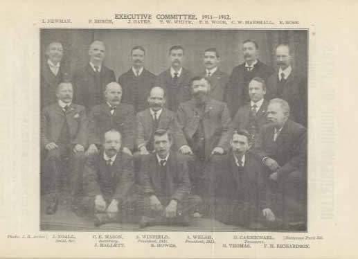 Middle picture of the Trades Council group taken by Archer