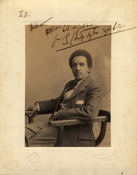 Samuel Coleridge-Taylor autographed photo