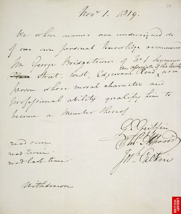 Recommendation for membership of the RPS - 1819