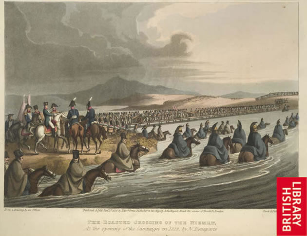 Napoleon crossing the River Nieman