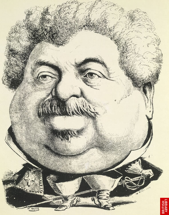 Caricature by Meyer - reminiscent of Gulliver in Liliput