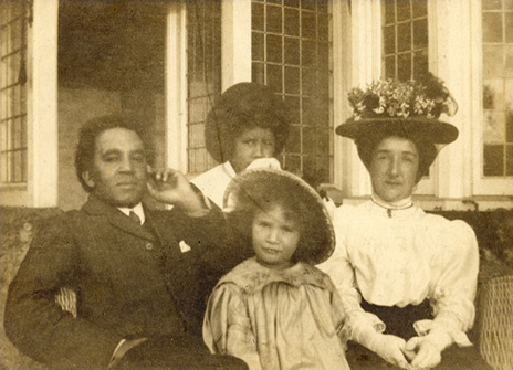 Samuel Coleridge-Taylor, wife and children