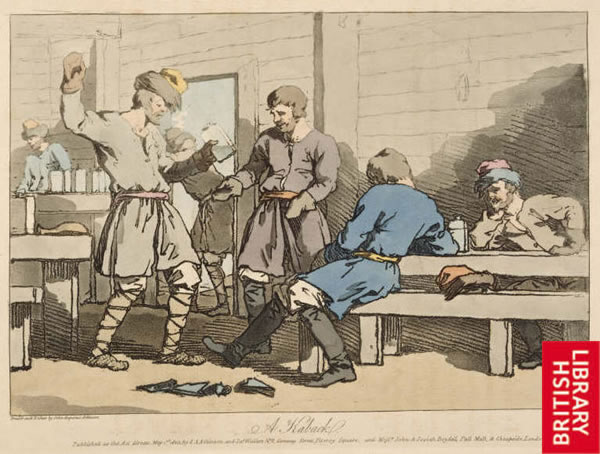 The Kaback - Russian men drinking in an inn