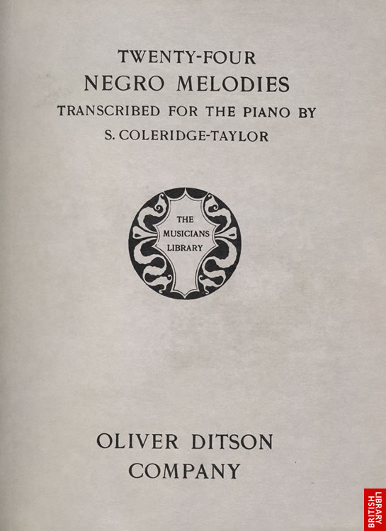 title page of 24 Negro Melodies