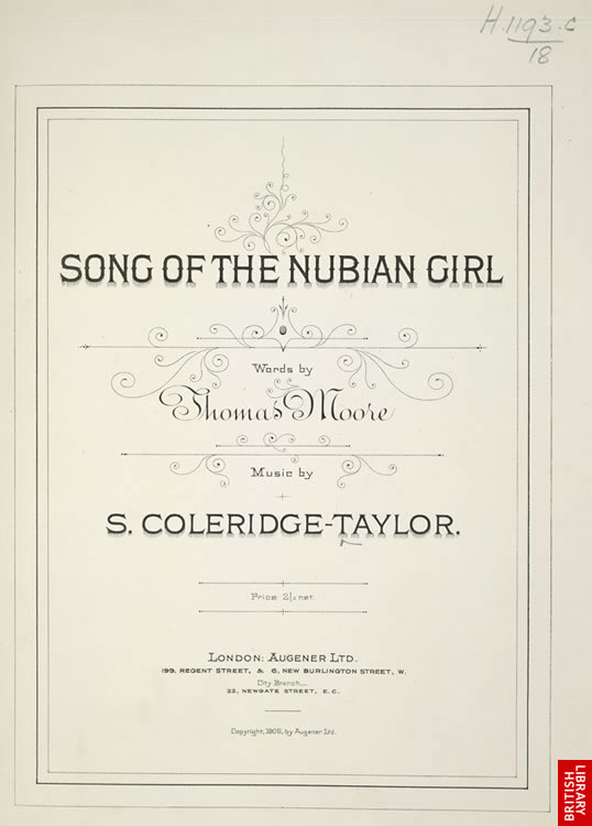 title page of Nubian Girl