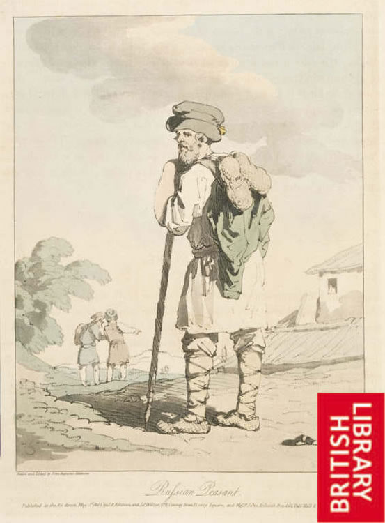 Image of a Russian peasant in Pushkin's time
