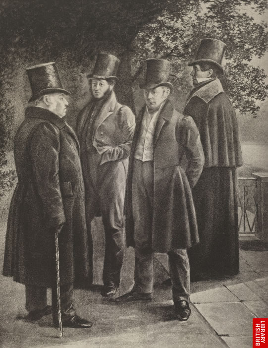 Image of Pushkin in a group