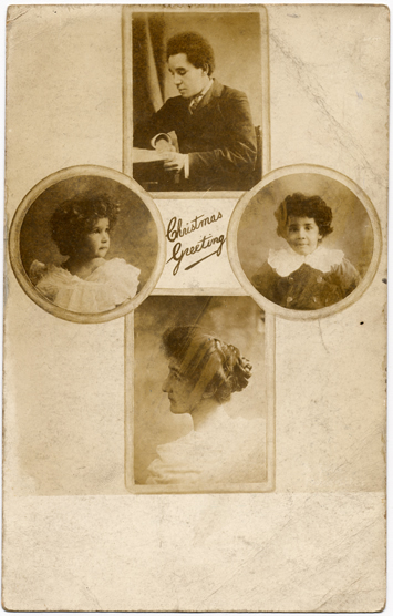 Portrait of Samuel Coleridge-Taylor, wife and children