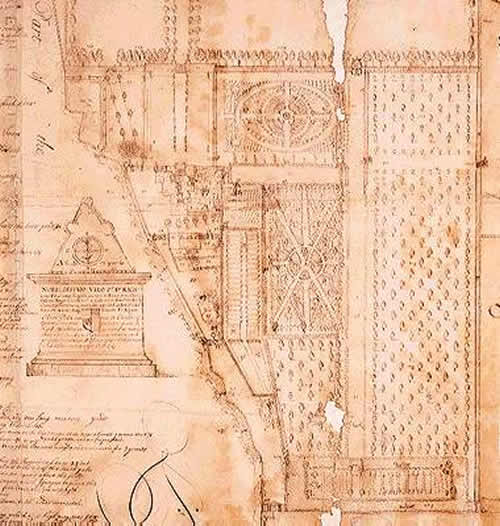Plan Of John Evelyn S House And Garden At Sayes Court