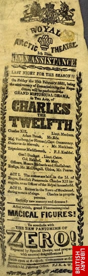 Image of the Royal Arctic Theatre playbill