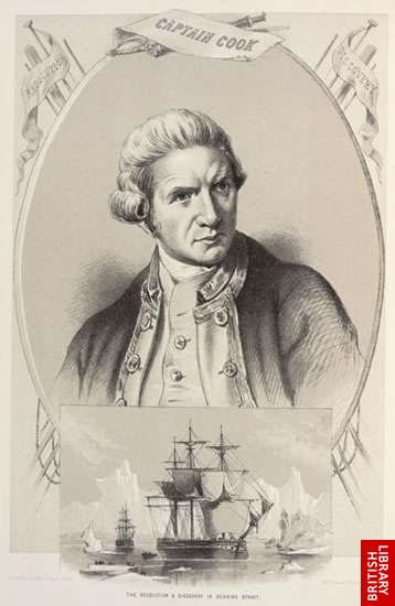 Image of of a Captain Cook portrait