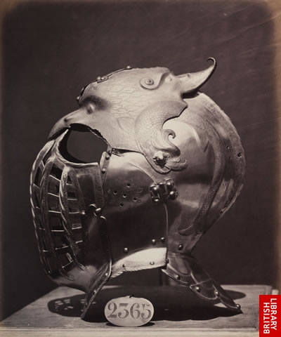 Helmet and visor from the Royal Armoury