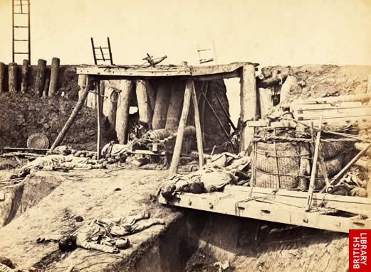Interior of the North Taku Fort, immediately after its capture