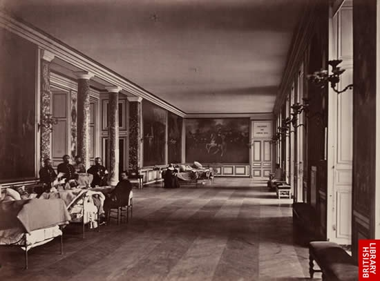 The Gallery of Louis XIII at Versailles, used as a hospital