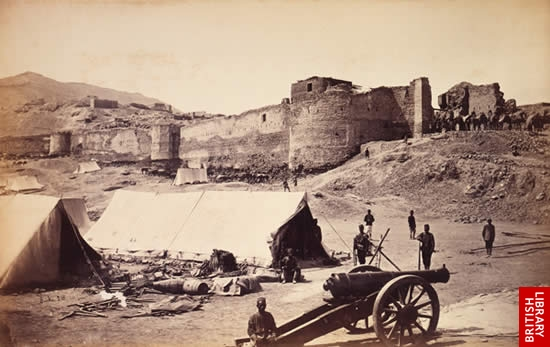 The Upper Bala Hissar from the Gate above the Residency, Kabul