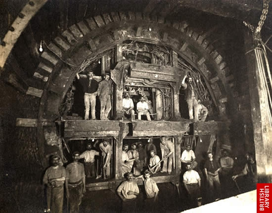 Construction work on the Central Line of the London Underground