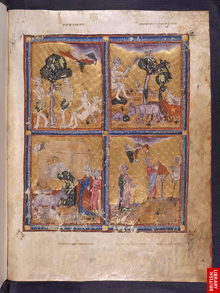 Image from the Golden Haggadah