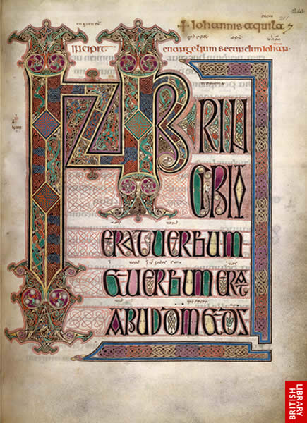 Image from the Lindisfarne Gospels