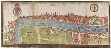 Panorama of London, William Smith, 1588