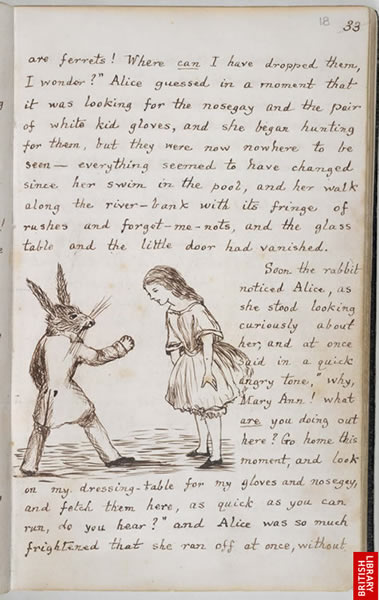 Image from Lewis Carroll's 'Alice's Adventures Under Ground'