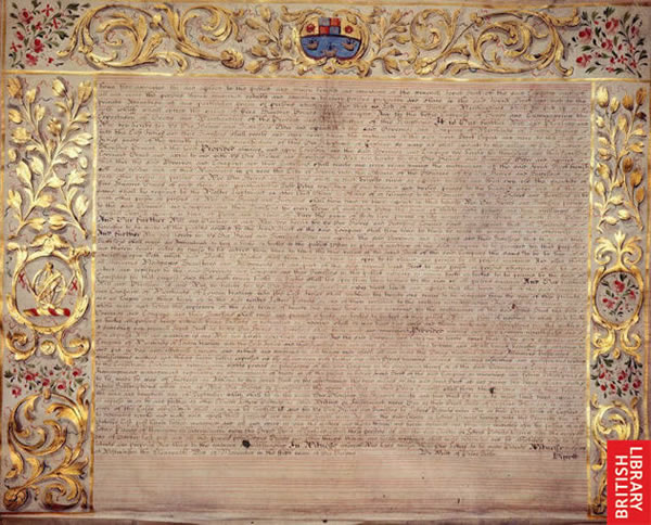 Image of Letters Patent of William and Mary prescribing regulations for the conduct of business of the East India Company