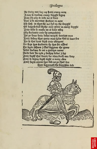 Image from William Caxton's Chaucer