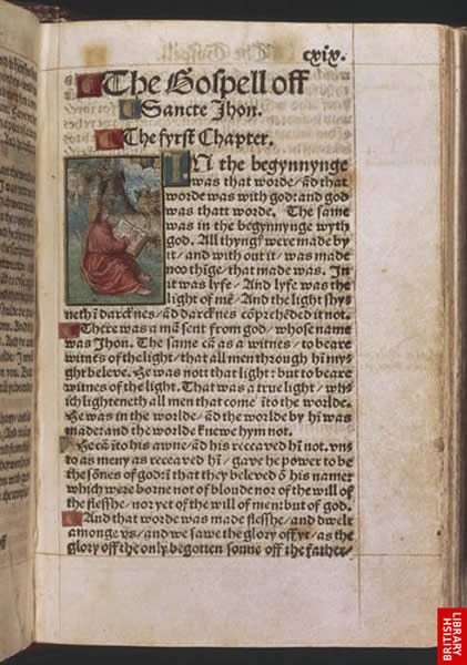Image from William Tyndale's New Testament