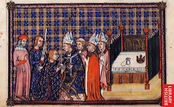 Image from the Coronation Book of Charles V