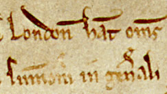 Detail from MAgna Carta 1215