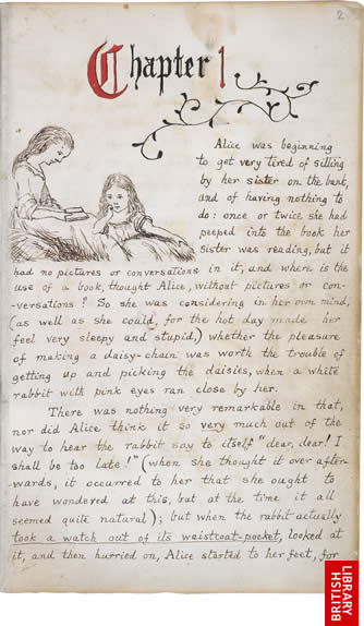 Image of Lewis Carroll's Alice's Adventures Under Ground, page 1