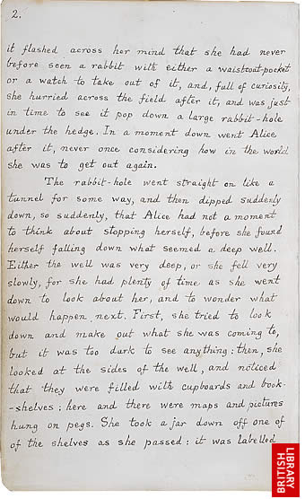 Image of Lewis Carroll's Alice's Adventures Under Ground, page 2
