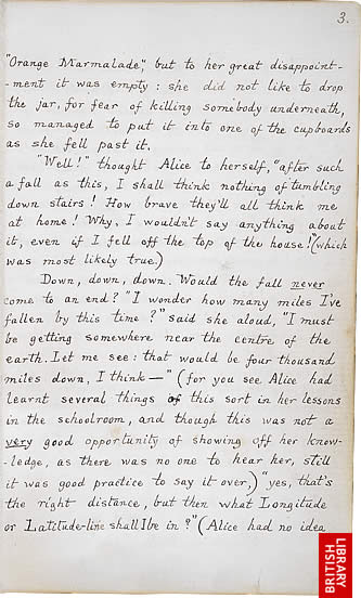 Image of Lewis Carroll's Alice's Adventures Under Ground, page 3