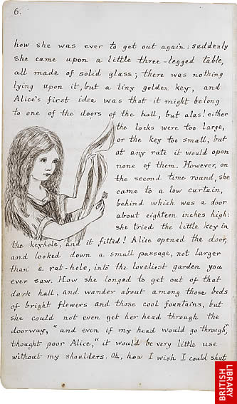 Image of Lewis Carroll's Alice's Adventures Under Ground, page 6