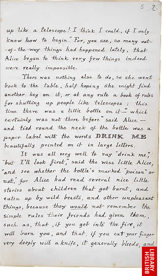 Image of Lewis Carroll's Alice's Adventures Under Ground, page 7